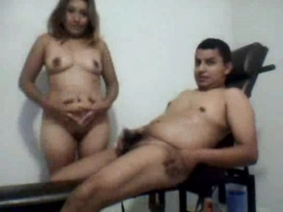 Spy vid 33. Indian couple have intercourse on a excersise machine