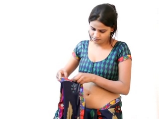 Spy vid 53. Lascivious amateur bhabhi wearing saree getting ready for party